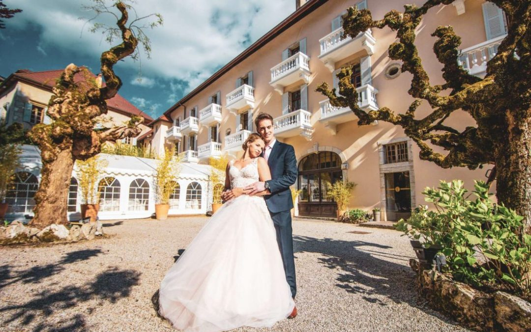Un shooting d'inspiration mariage à l'Abbaye de Talloires